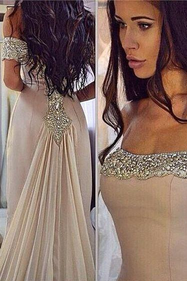 Custom Made Champagne Sequin Long Prom Dress, Evening Dress, Champagne Sequin Long Prom Dress for Teens, Unique Evening Dress, Elegant Formal Dress, Modest Prom Dress Long