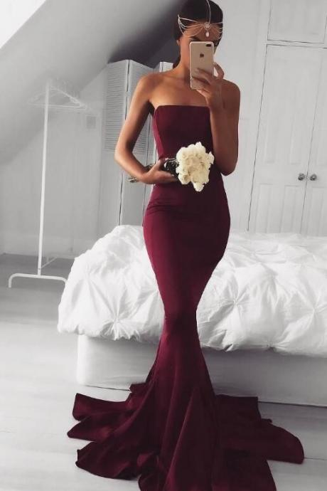 Fashion Burgundy Prom Party Dress, Custom Made Evening Dress,Long Prom Dress,Woman Burgundy Formal Dress Evening