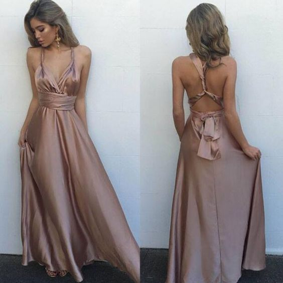 Sexy V Neck Maxi Dress, Sexy Back Prom Dresses, Woman Dresses, Gorgeous Long Prom Dress, Sleeveless Prom Dresses, Long Evening Dress