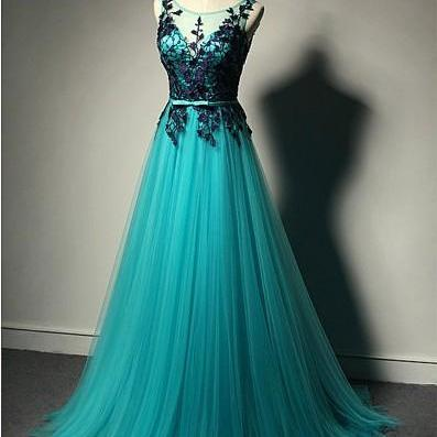 Blue Prom Dress,Black Lace Prom Dresses,New Fashion Prom Dresses,Tulle Formal Gown,Black Evening Gowns,Tulle Formal Gown For Teens